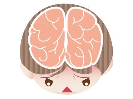 自律神経の交感神経と副交感神経の乱れを表すイラスト