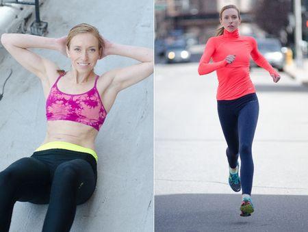 筋トレと有酸素運動をする女性の写真
