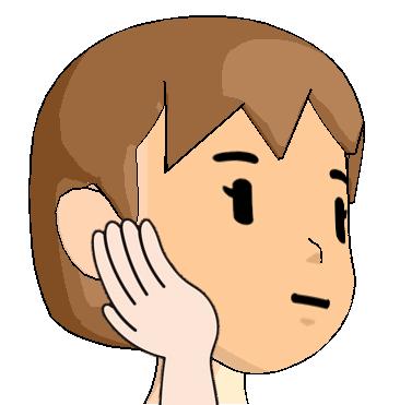 アゴ関節から耳の後ろをさするマッサージの解説画像