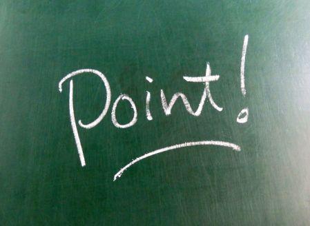 効果を上げるポイントを書いた黒板