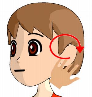 耳下腺のリンパ節のマッサージ方法