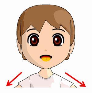 ベロ出し体操で舌を前に出す方法の絵