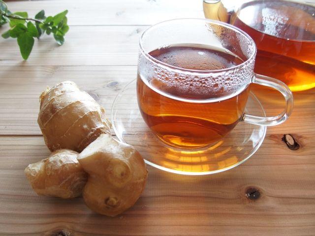 生姜入りの紅茶の写真