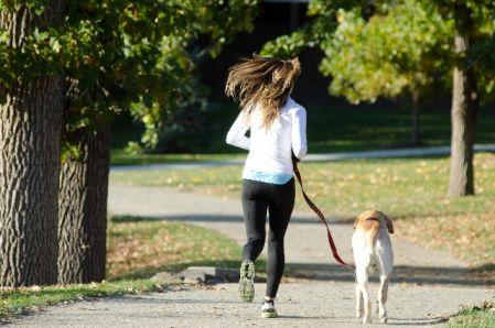 有酸素運動つぃてジョギングを行う女性の写真