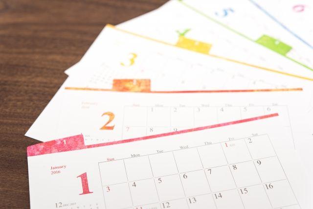 お肌のターンオーバーの周期を確認する為のカレンダーの写真