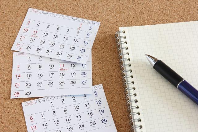 重曹パックや重曹洗顔の頻度をはかるカレンダーの写真