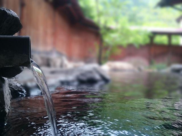 ぬるま湯洗顔に使う温泉の写真