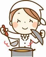 食事を作る女性の画像