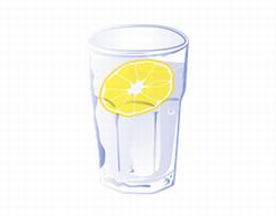 レモン水のイラスト